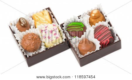 Chocolates And Sweets, Truffles, Packed In Boxes