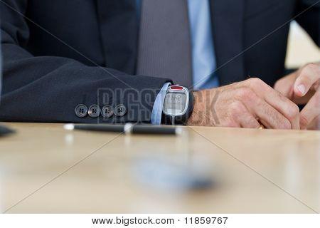 Bolígrafo en el escritorio
