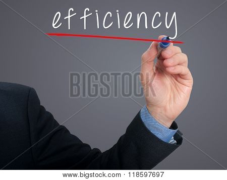 Businessman Writing Concept Of Efficiency Business Process