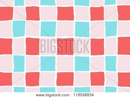 Ripped Retro Squares Pattern