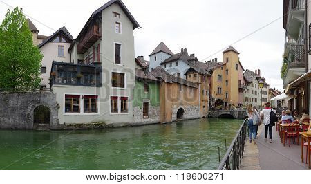 View Of The Canal In City Centre Of Annecy