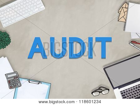 Audit Check Financial Verification Concept