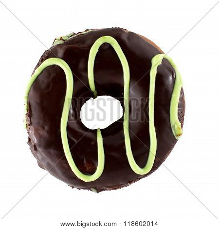 Chocolate Donut Isoalted On A White Background