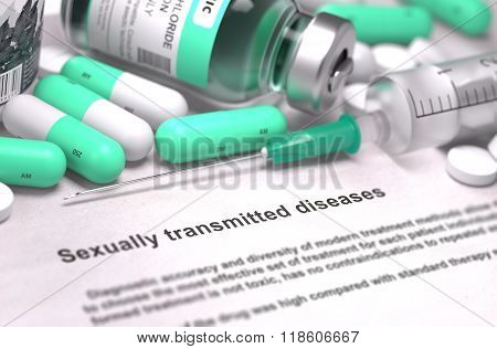 Sexually Transmitted Diseases - Medical Concept.