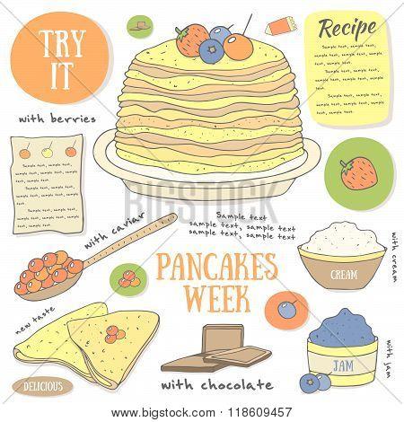 Pancakes background