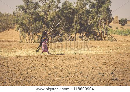 Women Coming Back From Their Work