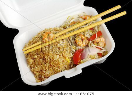 Fried Rice with Prawns and Vegetables
