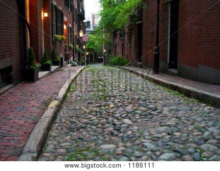 Acorn Street At Dawn