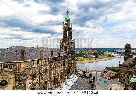The Kreuzkirche Church In Dresden