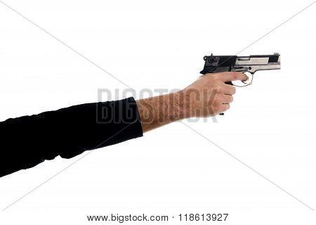 One Hand Hold A Gun