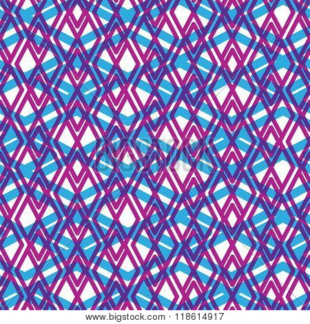 Geometric Messy Lined Seamless Pattern, Colorful Vector Endless Background. Decorative Net Splicing