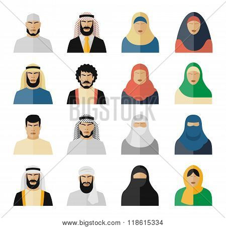 Arab people icons