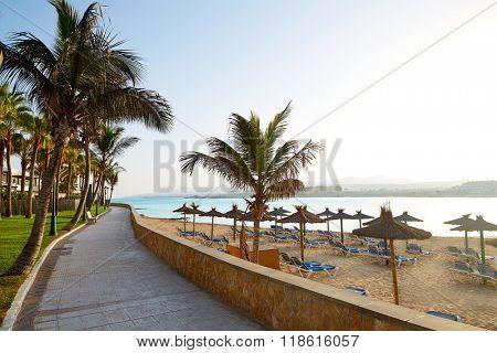 Fuerteventura Caleta del Fuste at Canary Islands of Spain