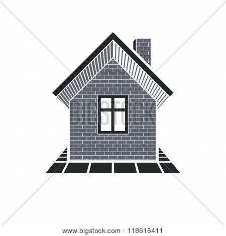 Simple House Icon For Graphic Design, Mansion Conceptual Symbo, Vector Property Image. Real Estate B