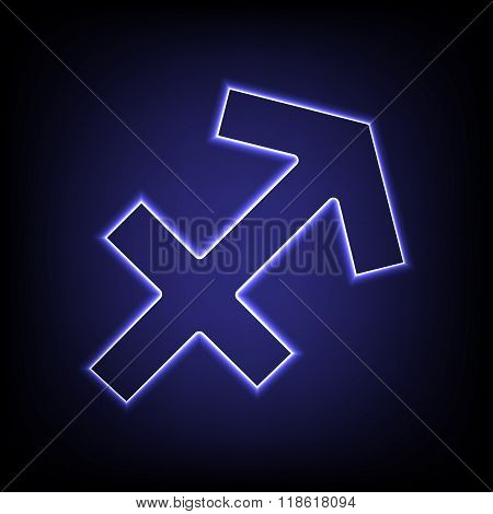 Vector neon effect icon