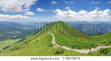 Hiking trail in the Allgau Alps