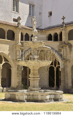 Fountain In Patio Of Cloister