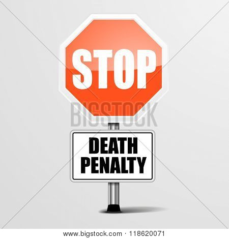 detailed illustration of a red stop Death Penalty sign, eps10 vector