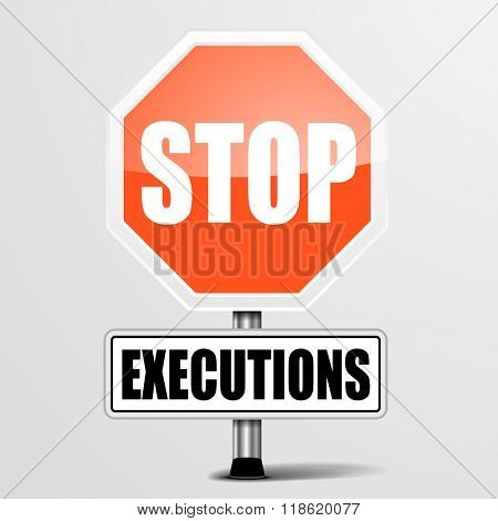 detailed illustration of a red stop Executions sign, eps10 vector