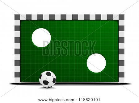 detailed illustration of a soccer training wall with a ball in front, eps10 vector