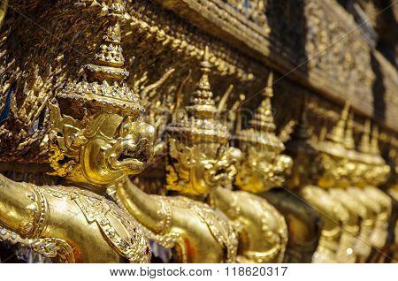 Golden Garuda of Wat Phra Kaew at Bangkok thailand