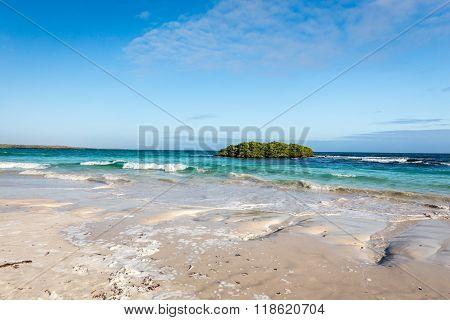 Panorama of beach in Santa Cruz Galapagos
