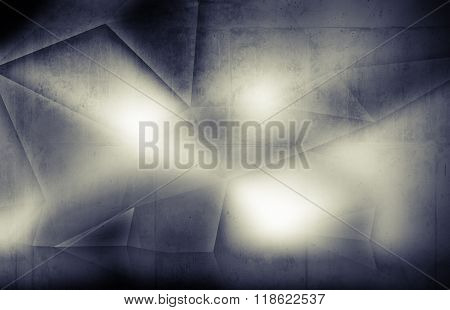 Grungy Concrete Texture With Polygonal Pattern