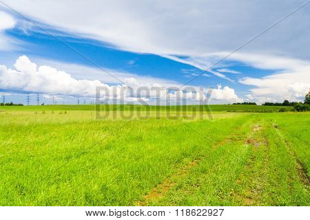 Scenic View Green Plain