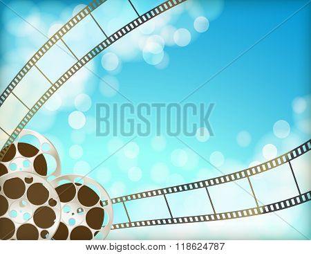 Cinema Blue Background