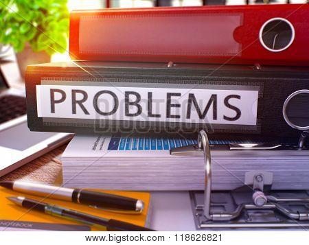 Black Office Folder with Inscription Problems.