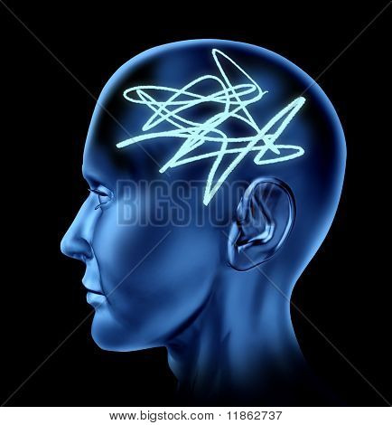 Brain confused mental tangle alziemers memory