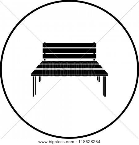 wooden bench symbol