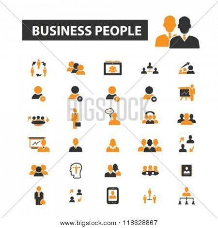 business people icons, business people logo, team icons vector, team flat illustration concept, team infographics elements isolated on white background, team logo, team symbols set, leader, goal