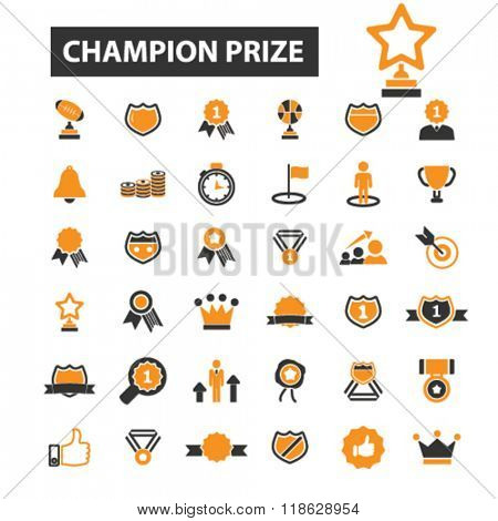 champion prize icons, champion prize logo, awards icons vector, awards flat illustration concept, awards infographics elements isolated on white background, awards  logo, awards symbols set, trophy