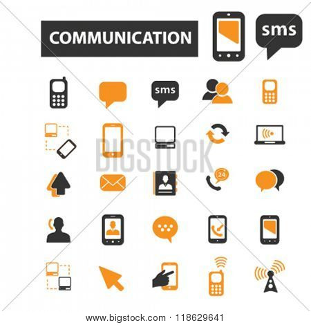 connect icons, communication icons vector, communication flat illustration concept, communication infographics elements isolated on white background, communication  logo, communication symbols set