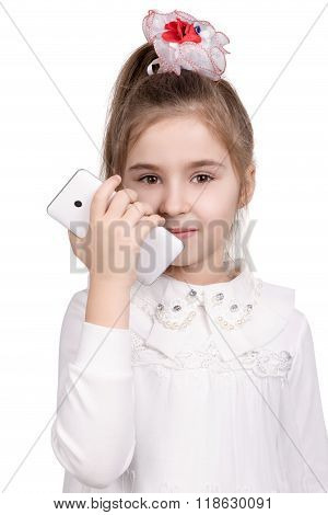 Portrait of a girl with smartphone