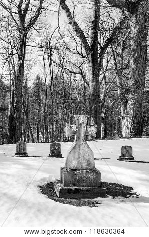 Early American Gravestones And Cemetery
