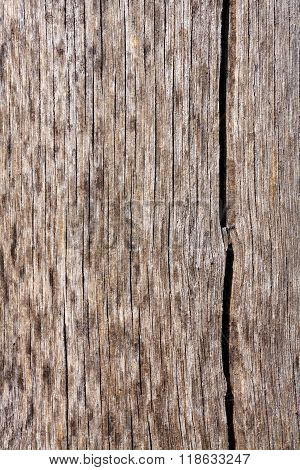Old Wood With Natural Texture And Crack For Background