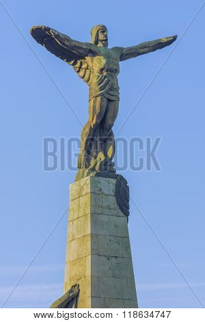 Bucharest, Romania -June 27th 2015:Statue of the Heroes of the Air dedicated to Romanian aviators