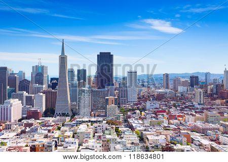 San Francisco downtown general view