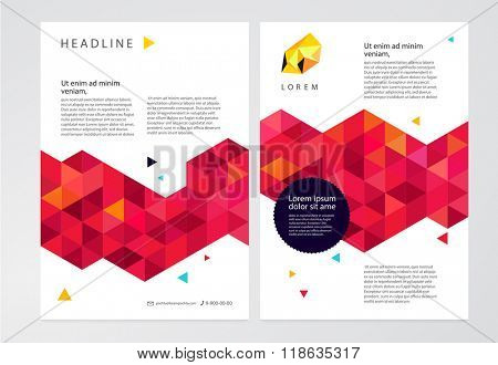 Vector geometric abstract background. Template brochure, leaflet, poster.