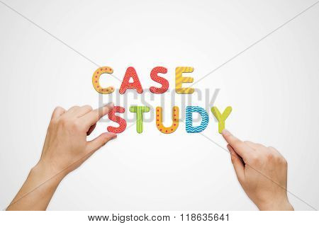 Hands Put The Words Case Study With Magnetic Letters