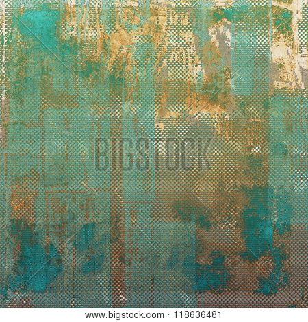 Old antique texture or background. With different color patterns: yellow (beige); brown; green; blue; cyan