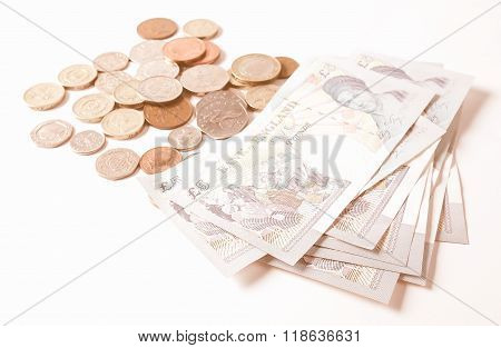 Pound Note And Coin Vintage