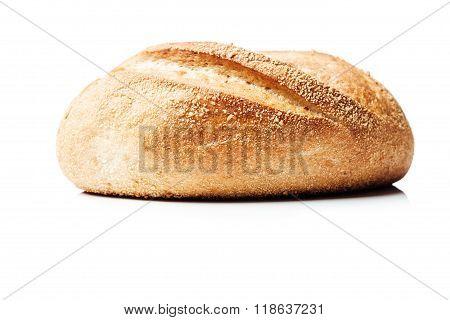 Potato Bread Roll On White Background