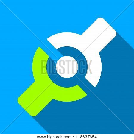 Artificial Joint Flat Long Shadow Square Icon