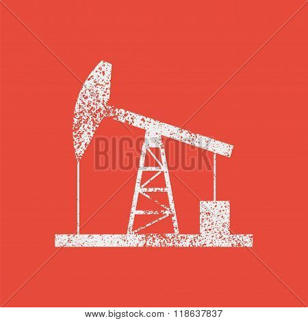 Oil Derrick Icon  Bitmap Illustration.