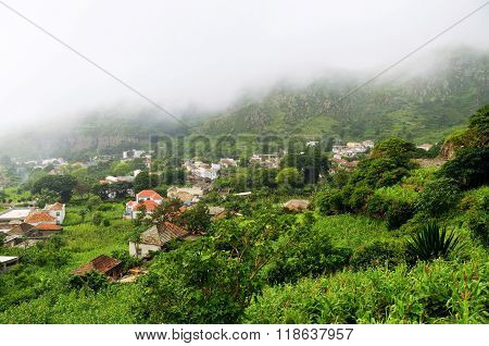 Nova Sintra In The Valley Under Clouds