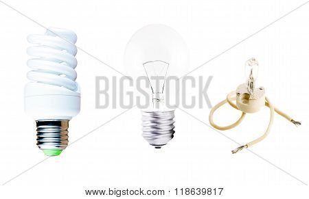 Halogen, Incandescent And Fluorescent Lamp