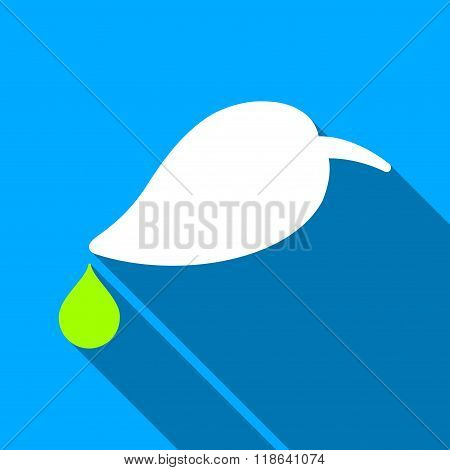 Ecology Water Drop Flat Long Shadow Square Icon